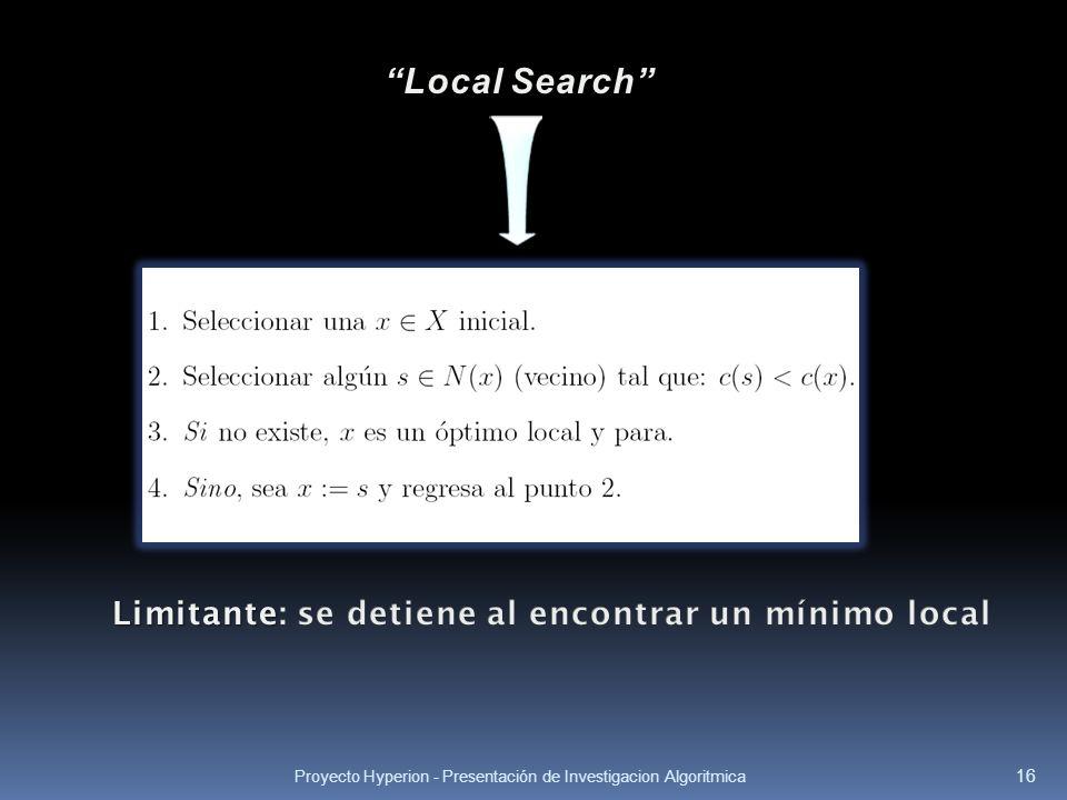 Proyecto Hyperion - Presentación de Investigacion Algoritmica 16