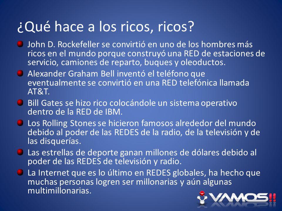 ¿Qué hace a los ricos, ricos? John D. Rockefeller se convirtió en uno de los hombres más ricos en el mundo porque construyó una RED de estaciones de s