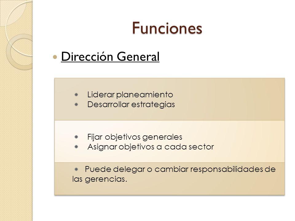 Funciones Dirección General