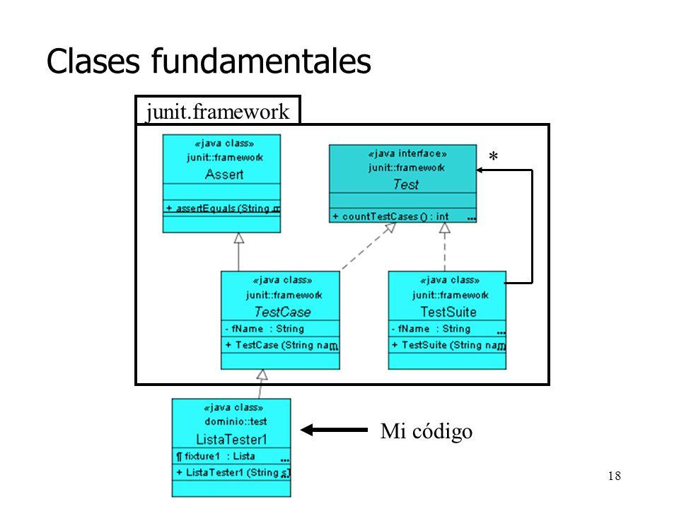 17 Clases fundamentales junit.framework