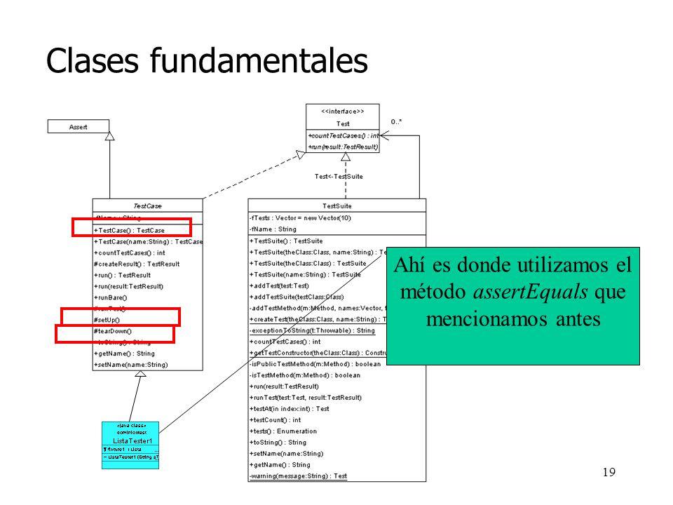 18 Clases fundamentales junit.framework Mi código *
