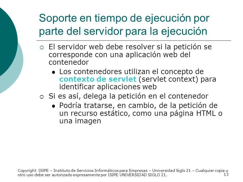 13 El servidor web debe resolver si la petición se corresponde con una aplicación web del contenedor Los contenedores utilizan el concepto de contexto
