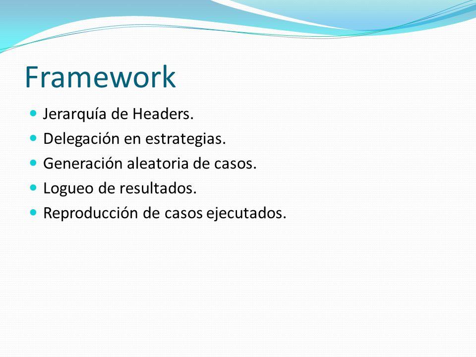 Framework Jerarquía de Headers. Delegación en estrategias.