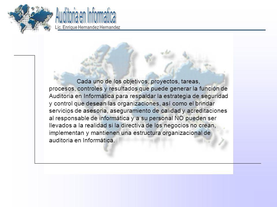ESTRATEGIA PARA LA IMPLANTACION FORMAL DE LA FUNCION DE AUDITORIA EN INFORMATICA 1.