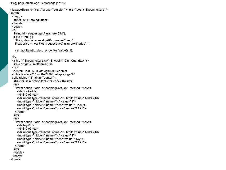 DVD Catalog <% String id = request.getParameter(