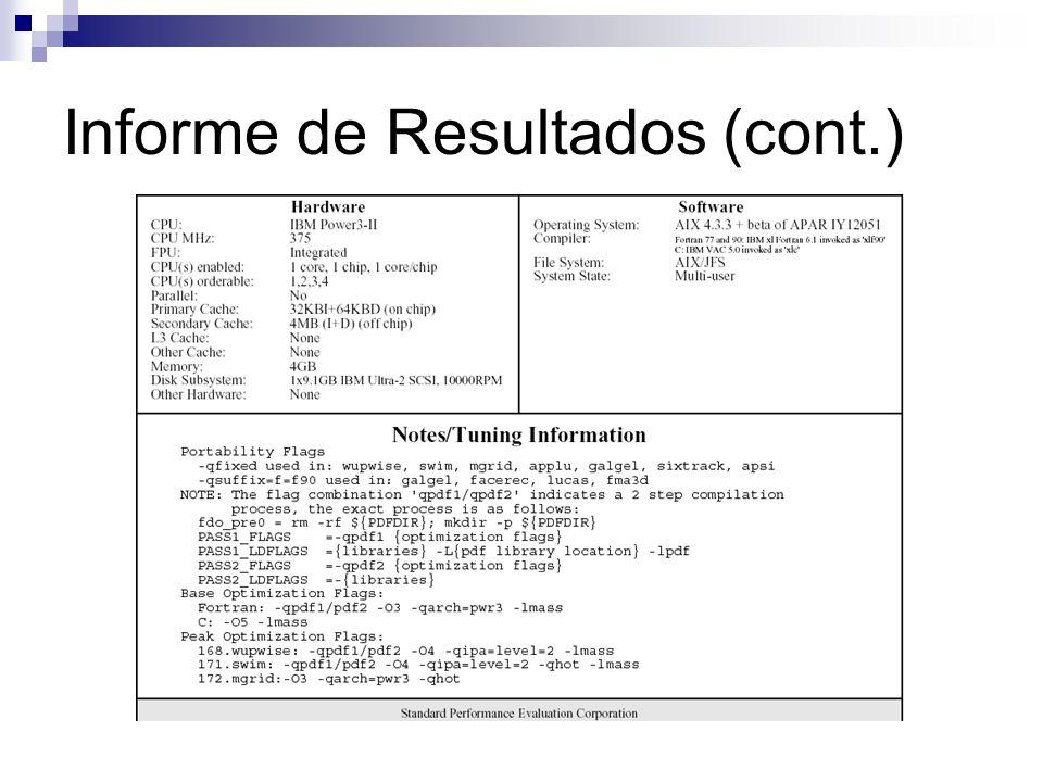 Informe de Resultados (cont.)