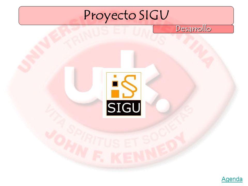 Proyecto SIGU Desarrollo Agenda