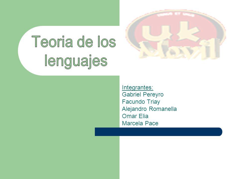 Integrantes: Gabriel Pereyro Facundo Triay Alejandro Romanella Omar Elia Marcela Pace