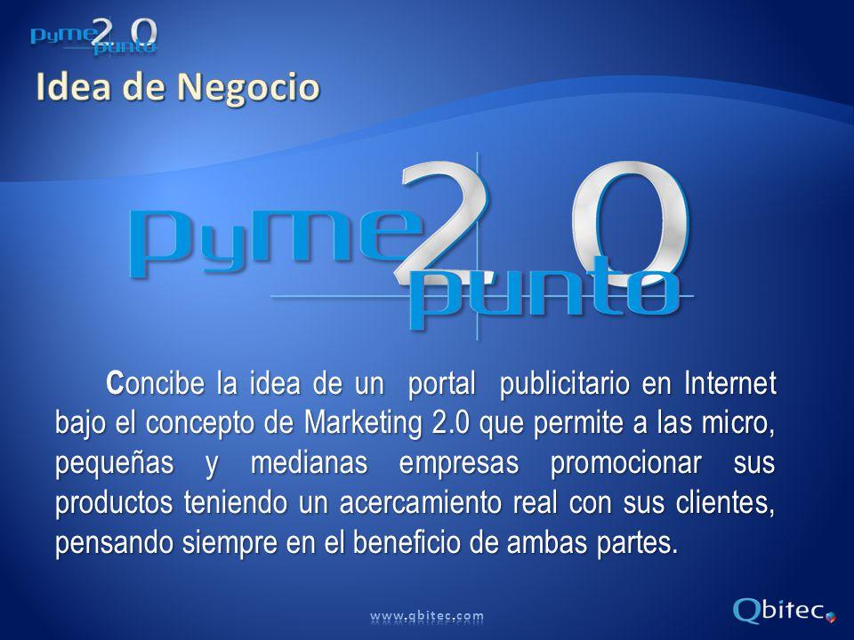 Fortalezas Producto innovador que ofrece marketing 2.0 a PyMEs.