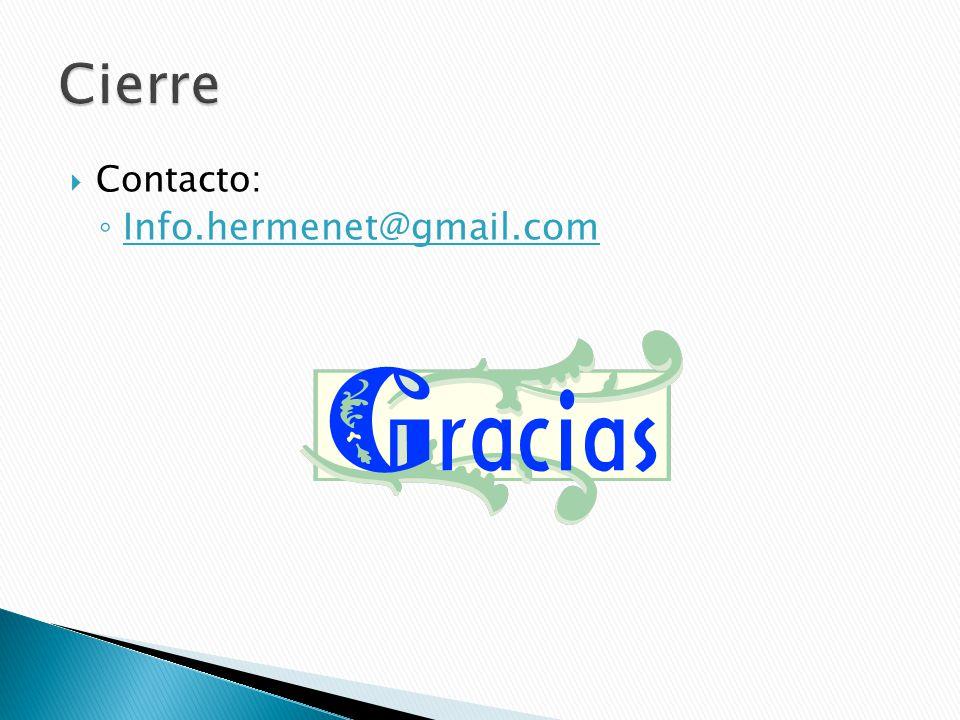 Contacto: Info.hermenet@gmail.com