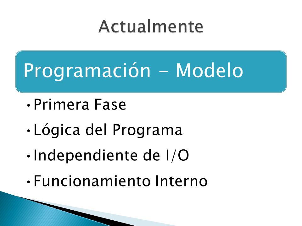 Programación - Modelo Primera Fase Lógica del Programa Independiente de I/O Funcionamiento Interno