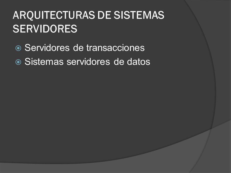 Estructura de procesos del servidor de transacciones Procesos servidor Proceso gestor de bloqueos Proceso escritor de bases de datos Proceso escritor del registro Proceso punto de revisión Proceso monitor de proceso