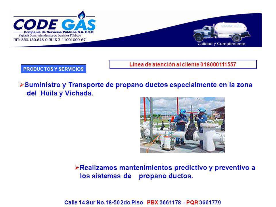 Línea de atención al cliente 018000111557 Calle 14 Sur No.18-50 2do Piso PBX 3661178 – PQR 3661779 En la actualidad operamos proyectos de cogeneración de energía eléctrica, en varios municipios.