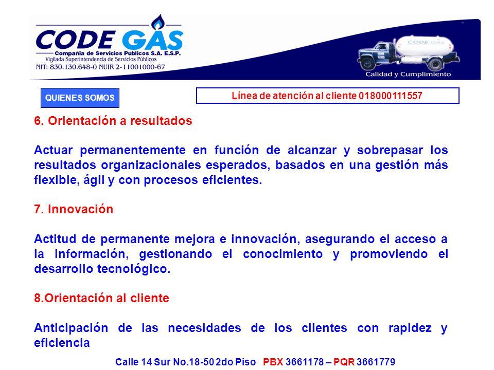 Línea de atención al cliente 018000111557 Calle 14 Sur No.18-50 2do Piso PBX 3661178 – PQR 3661779 9.