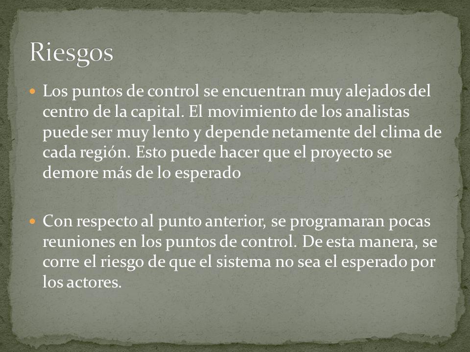 El alcance del proyecto incluirá: El desarrollo de dos subsistemas: el de Control y el de Mantenimiento.
