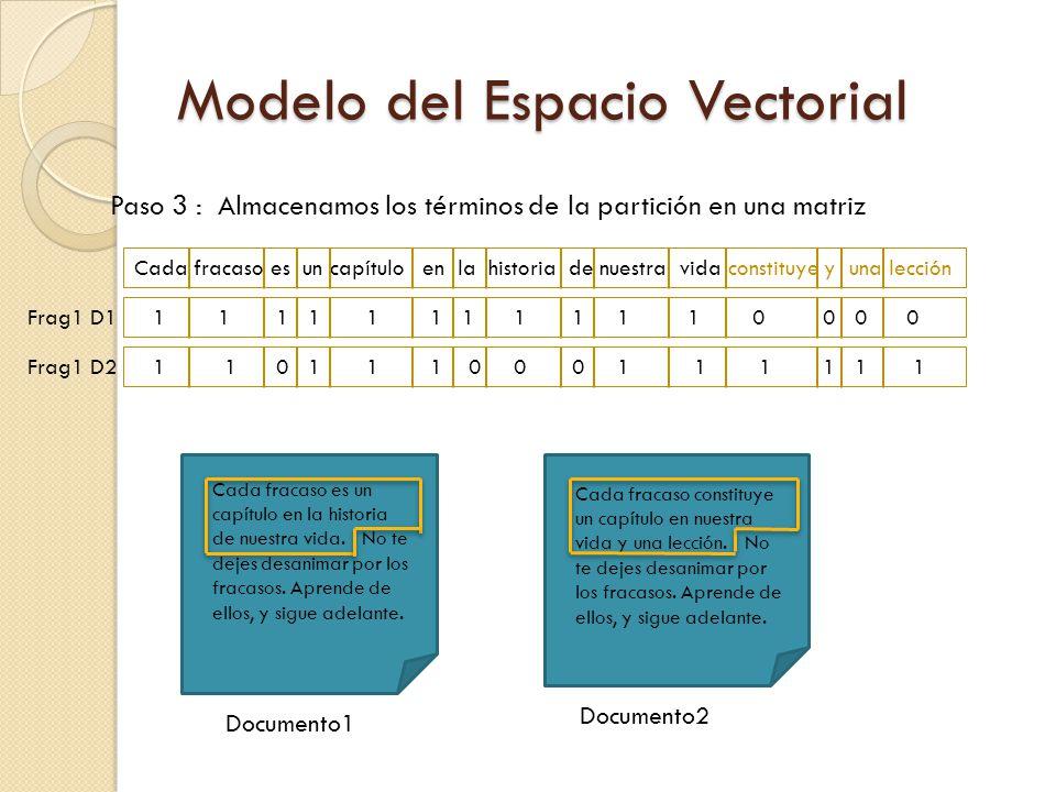Paso 3 : Almacenamos los términos de la partición en una matriz Cada fracaso es un capítulo en la historia de nuestra vida constituye y una lección 1