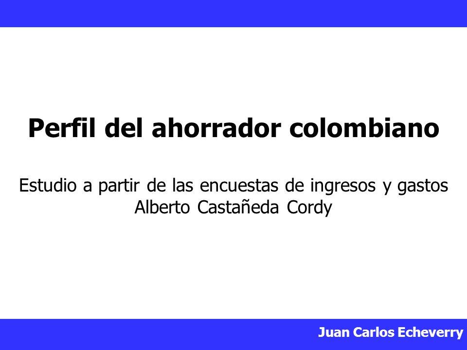 Juan Carlos Echeverry Perfil del ahorrador colombiano Estudio a partir de las encuestas de ingresos y gastos Alberto Castañeda Cordy