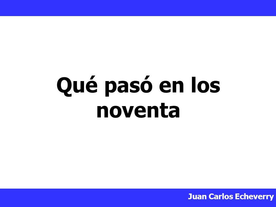 Juan Carlos Echeverry Qué pasó en los noventa