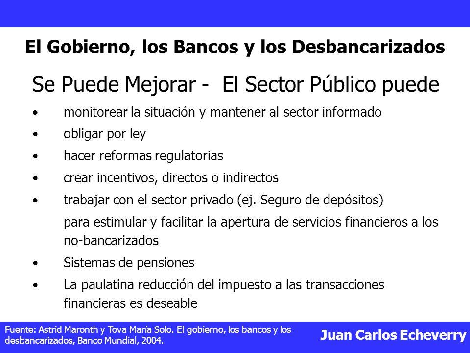 Juan Carlos Echeverry Se Puede Mejorar - El Sector Público puede monitorear la situación y mantener al sector informado obligar por ley hacer reformas regulatorias crear incentivos, directos o indirectos trabajar con el sector privado (ej.