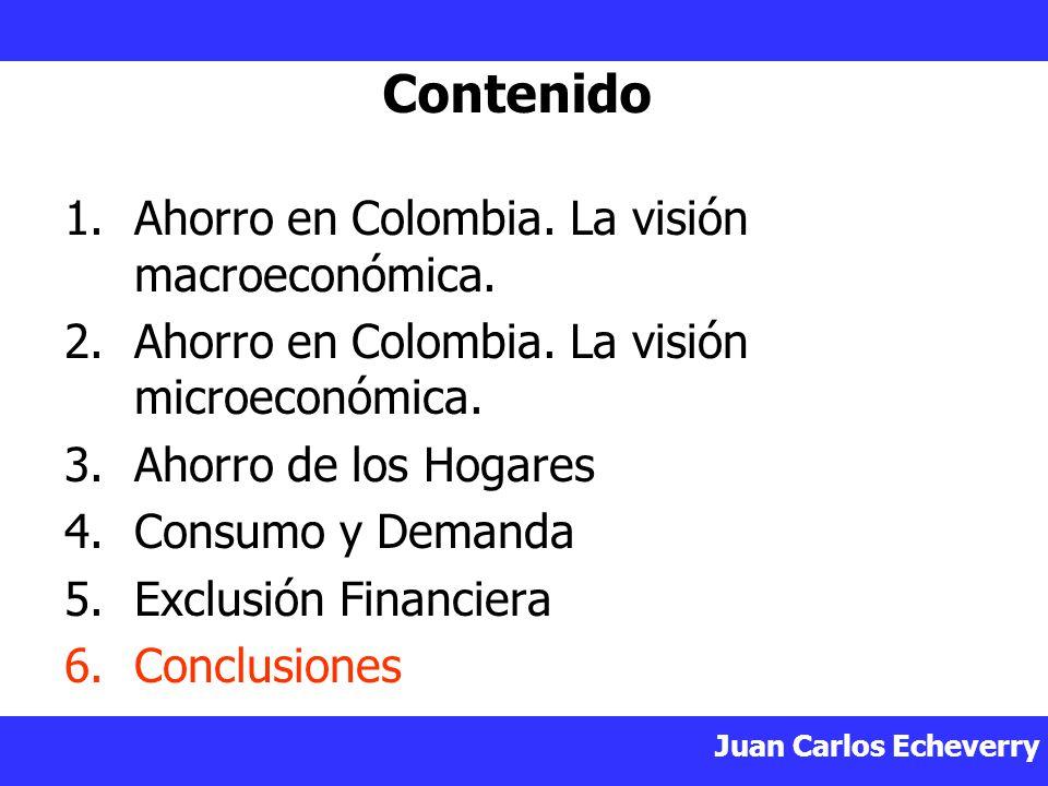 Juan Carlos Echeverry Contenido 1.Ahorro en Colombia.