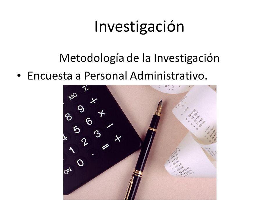 Investigación Metodología de la Investigación Encuesta a Personal Administrativo.