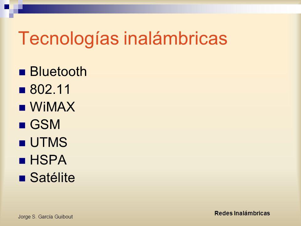 Jorge S. García Guibout Redes Inalámbricas Redes Mesh