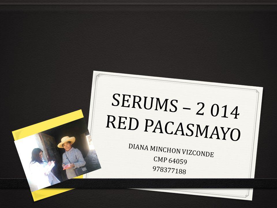 SERUMS – 2 014 RED PACASMAYO DIANA MINCHON VIZCONDE CMP 64059 978377188