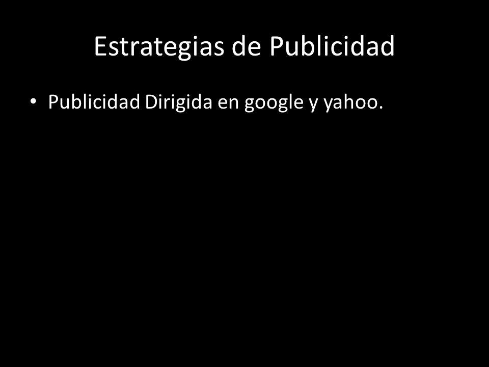 Estrategias de Publicidad Publicidad Dirigida en google y yahoo.