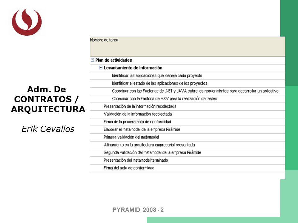 PYRAMID 2008 - 2 Adm. De CONTRATOS / ARQUITECTURA Erik Cevallos