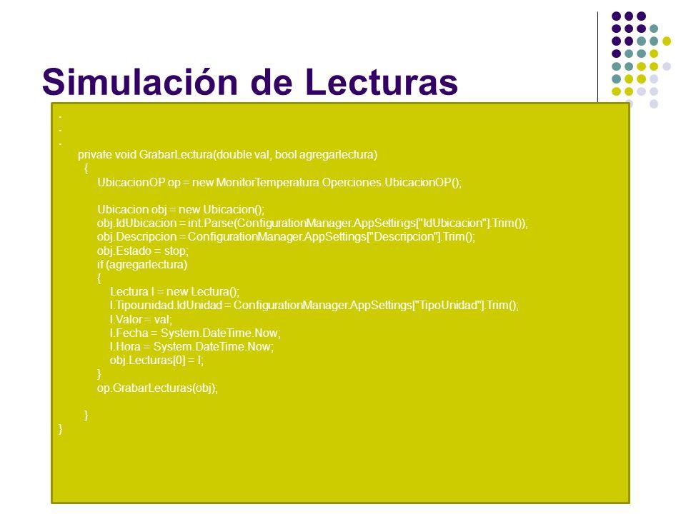 Simulación de Lecturas.