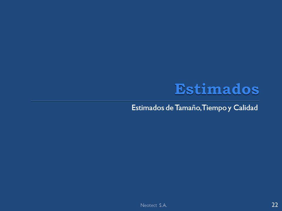Estimados de Tamaño, Tiempo y Calidad 22 Neotect S.A.