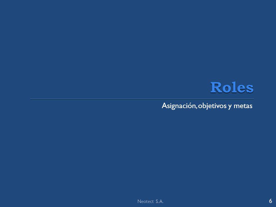 Asignación, objetivos y metas 6 Neotect S.A.