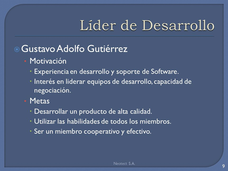 Modelo Inicial del Software CreditScore 20 Neotect S.A.