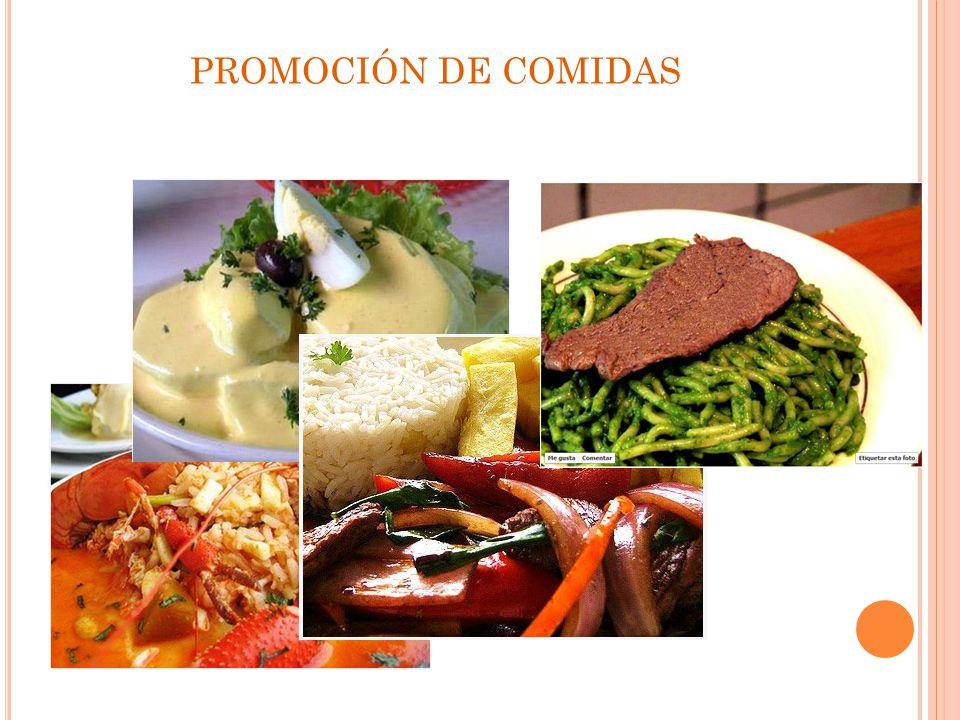 PROMOCIÓN DE COMIDAS