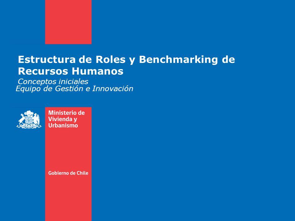 Estructura de Roles y Benchmarking de Recursos Humanos Conceptos iniciales Equipo de Gestión e Innovación