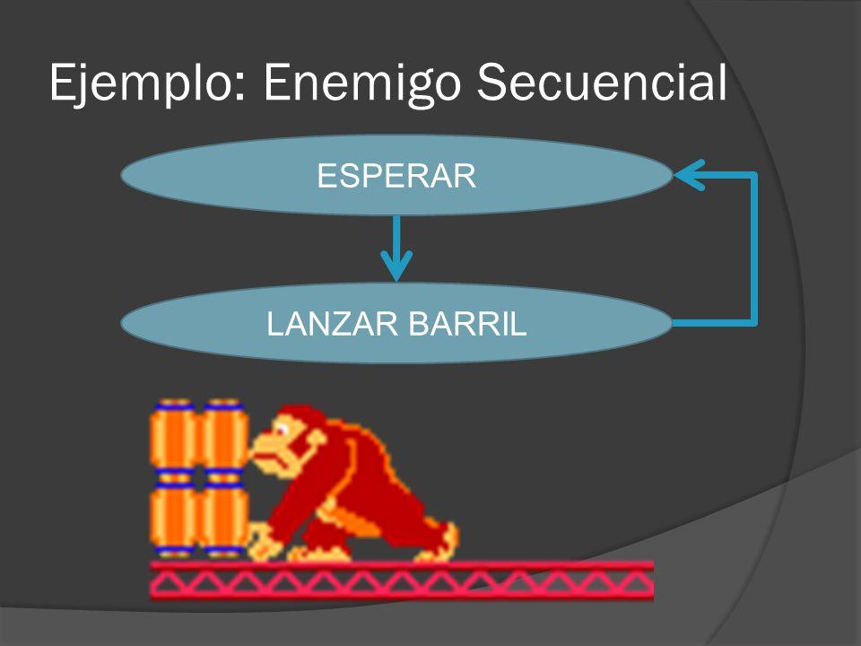 Ejemplo: Enemigo Secuencial ESPERAR LANZAR BARRIL