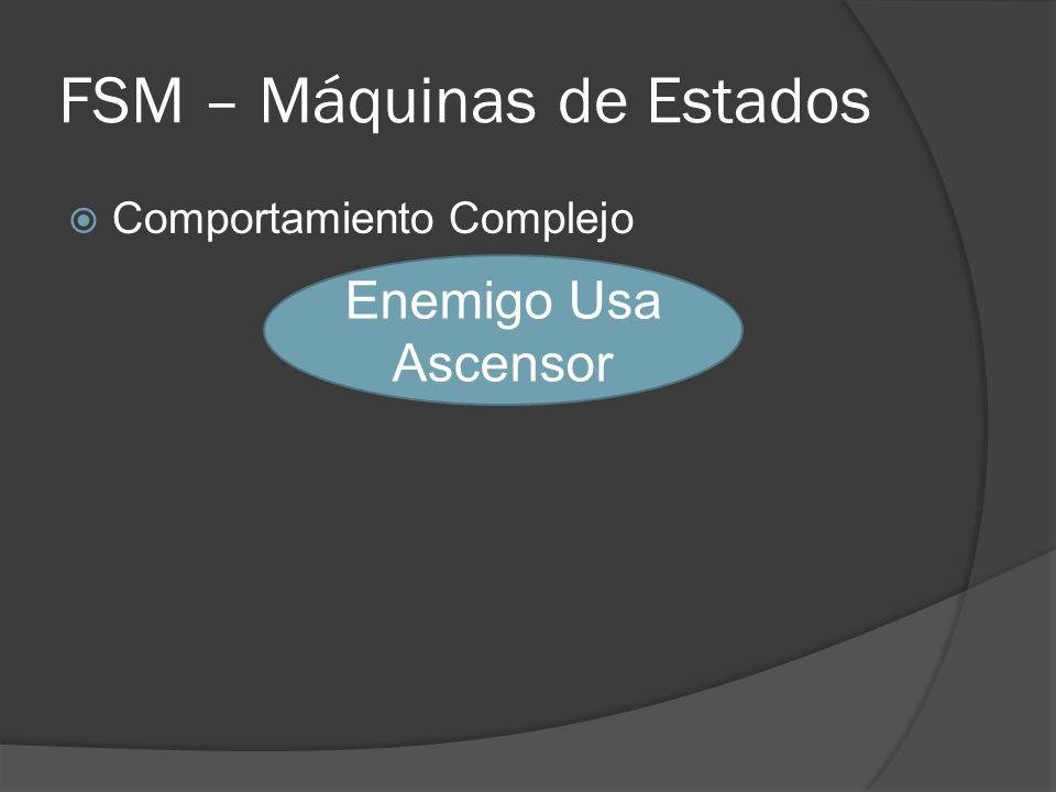 FSM – Máquinas de Estados Comportamiento Complejo Enemigo Usa Ascensor