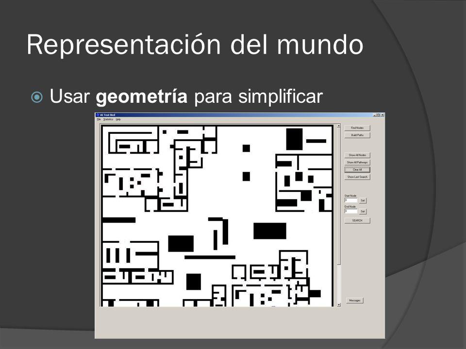 Representación del mundo Usar geometría para simplificar