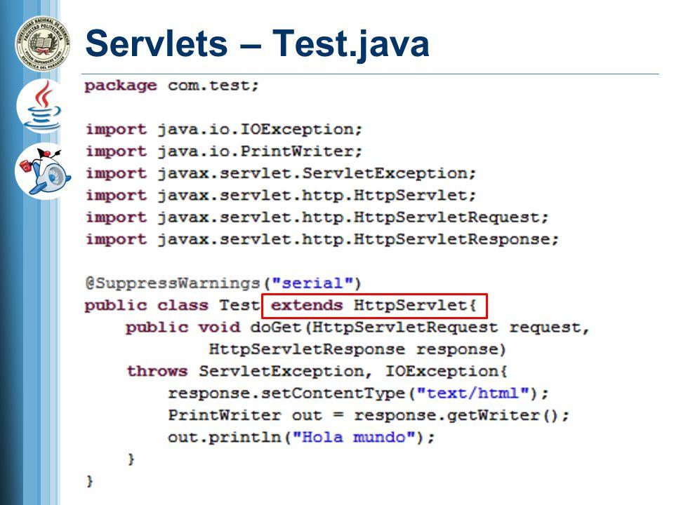 Servlets – Test.java