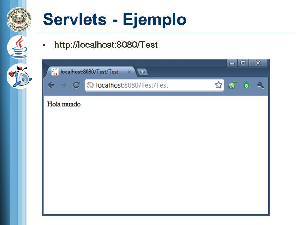 Servlets - Ejemplo http://localhost:8080/Test