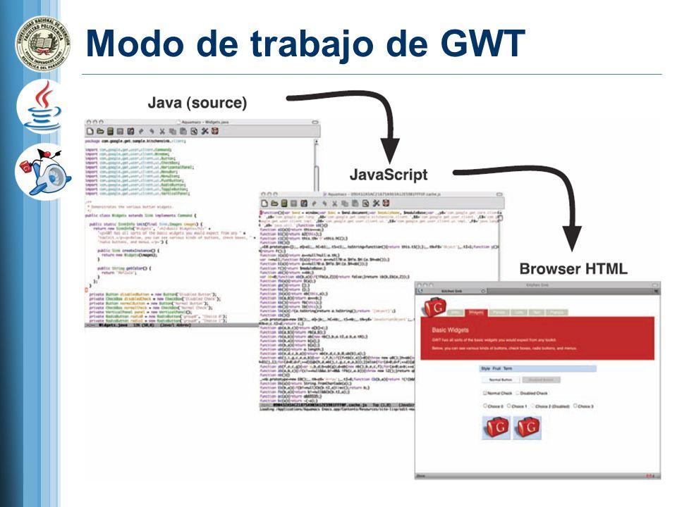Modo de trabajo de GWT