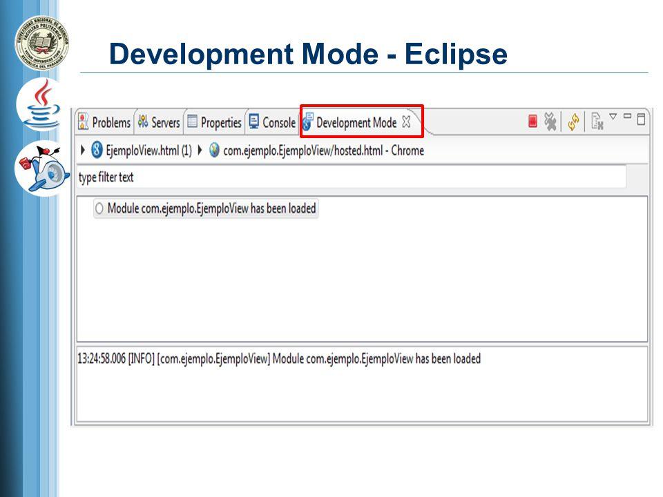 Development Mode - Eclipse