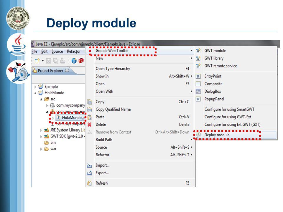 Deploy module