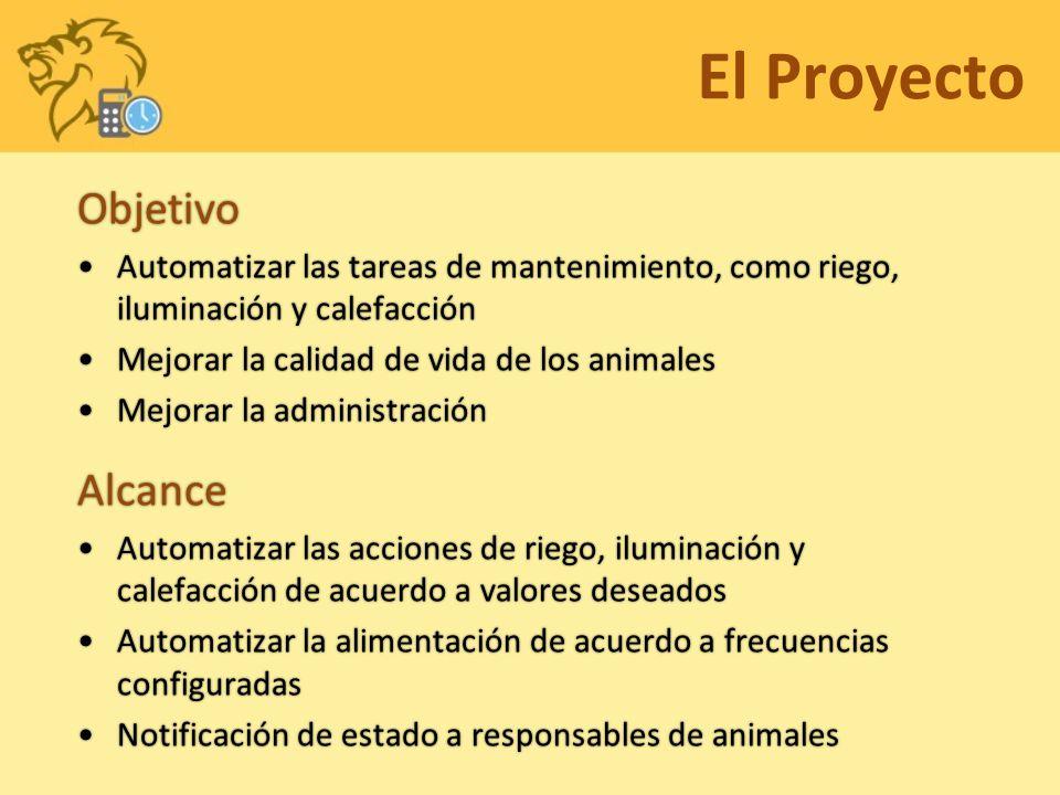 El Proyecto Objetivo Automatizar las tareas de mantenimiento, como riego, iluminación y calefacciónAutomatizar las tareas de mantenimiento, como riego