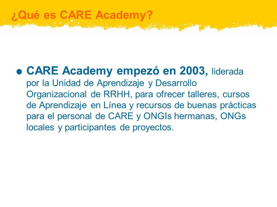CARE Academy – un recurso para personal nuevo Navegando CARE: Se anima a los nuevos empleados a visitar Navegar CARE en el stio Web de CARE Academy.
