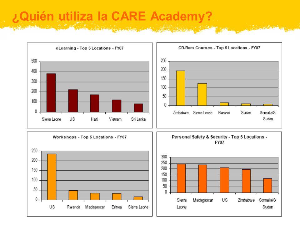 ¿Quién utiliza la CARE Academy?