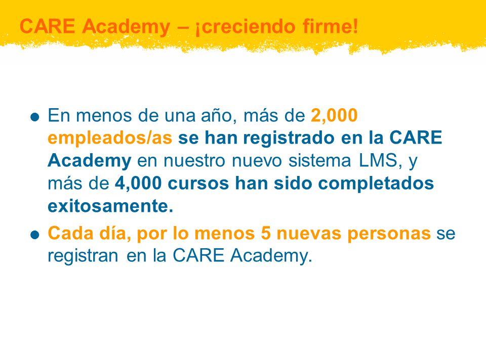¿Por qué ha aumentado el uso de la CARE Academy.Más alianzas y colaboraciones.