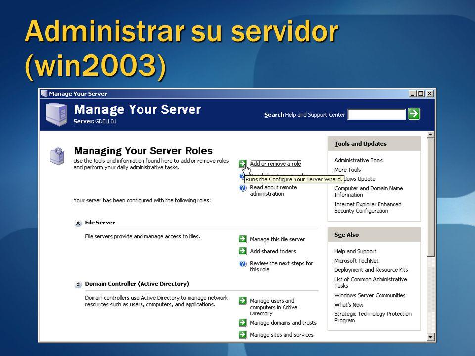 Administrar su servidor (win2003)