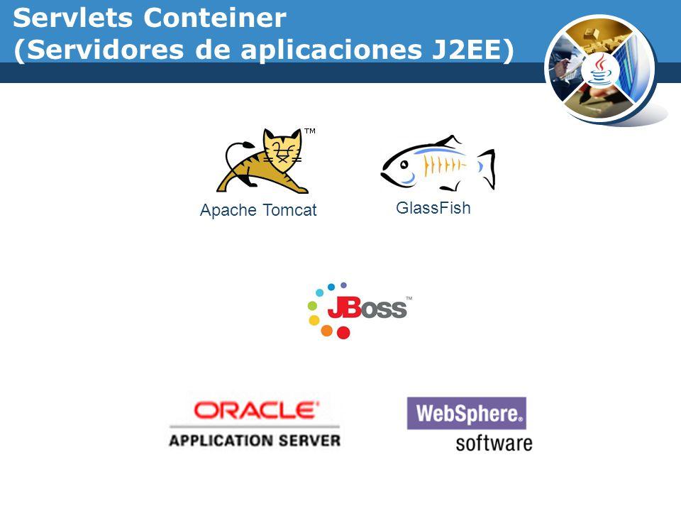 Servlets Conteiner (Servidores de aplicaciones J2EE) Apache Tomcat GlassFish