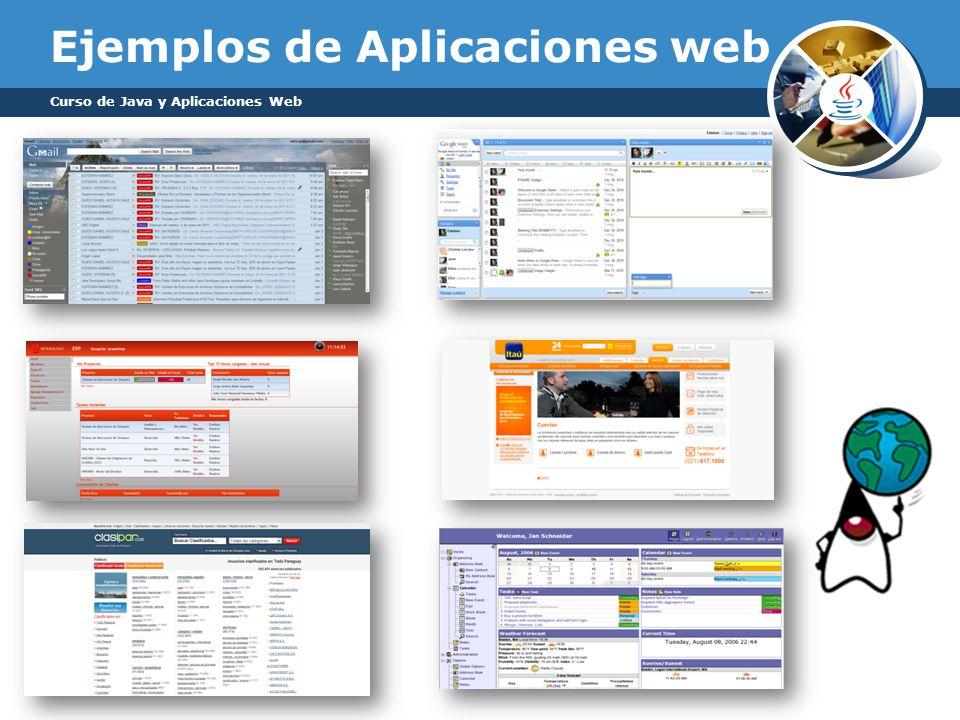 Ejemplos de Aplicaciones web Curso de Java y Aplicaciones Web